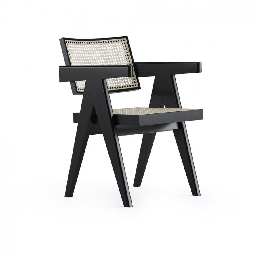 Rattan Dining Chair Pierre Black Marble Tables