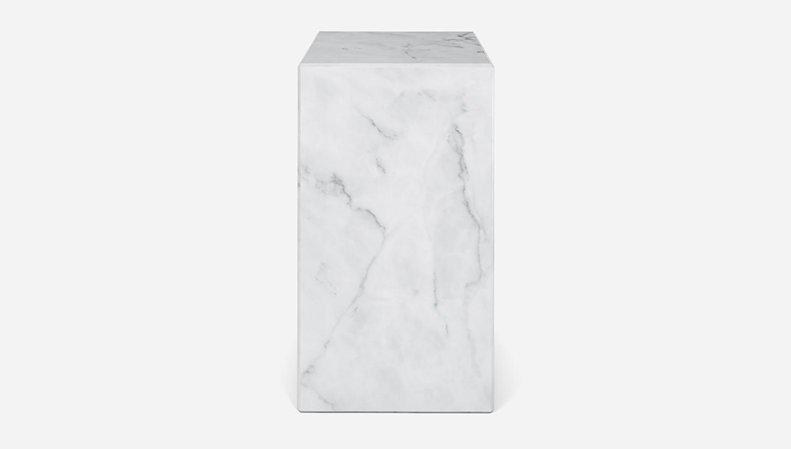 Aime Té Marmerblok Pilaar - Carrara Wit - 30  x 30  x 51