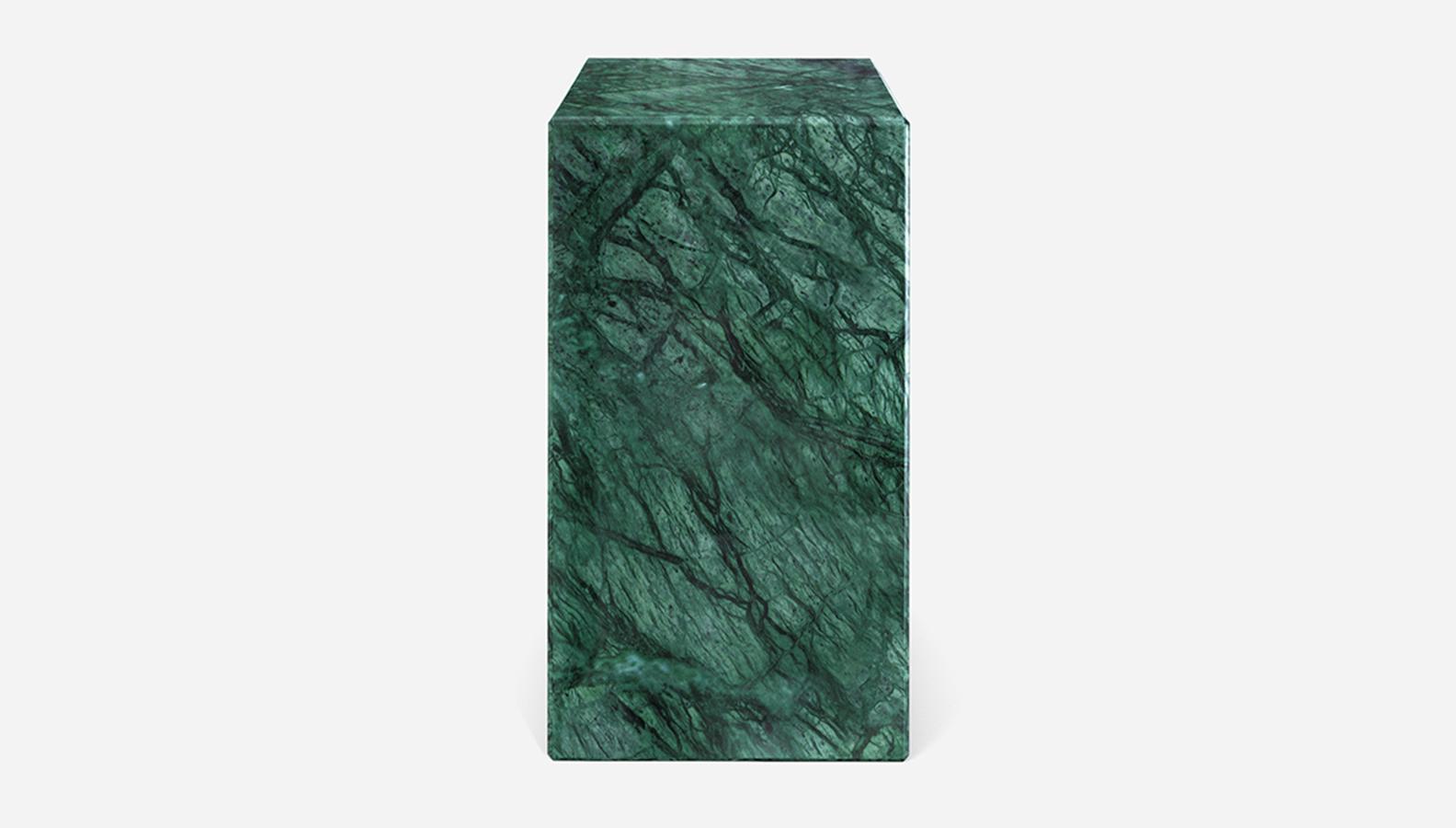 Aime Té Marmerblok Pilaar - India Green - 30  x 30  x 51