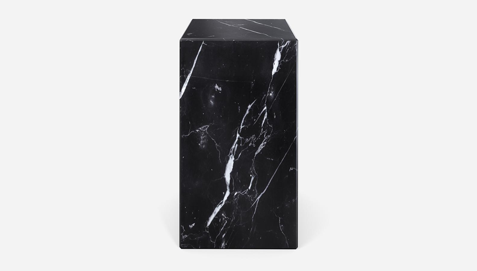 Aime Té Marmerblok Pilaar - Nero Marquina Zwart - 30  x 30  x 51