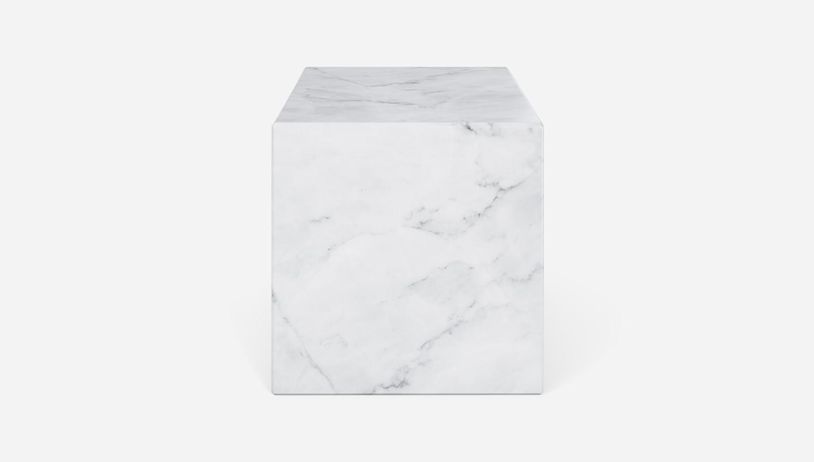 Aime Té Marmerblok Kubus - Carrara Wit - 40  x 40  x 40