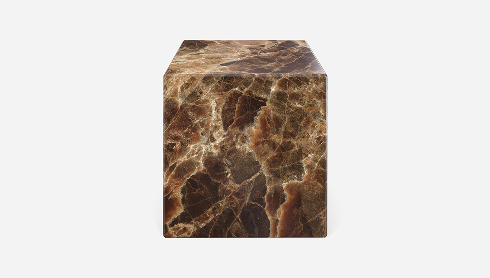 Aime Té Marmerblok Kubus - Dark Emperador Bruin - 40  x 40  x 40