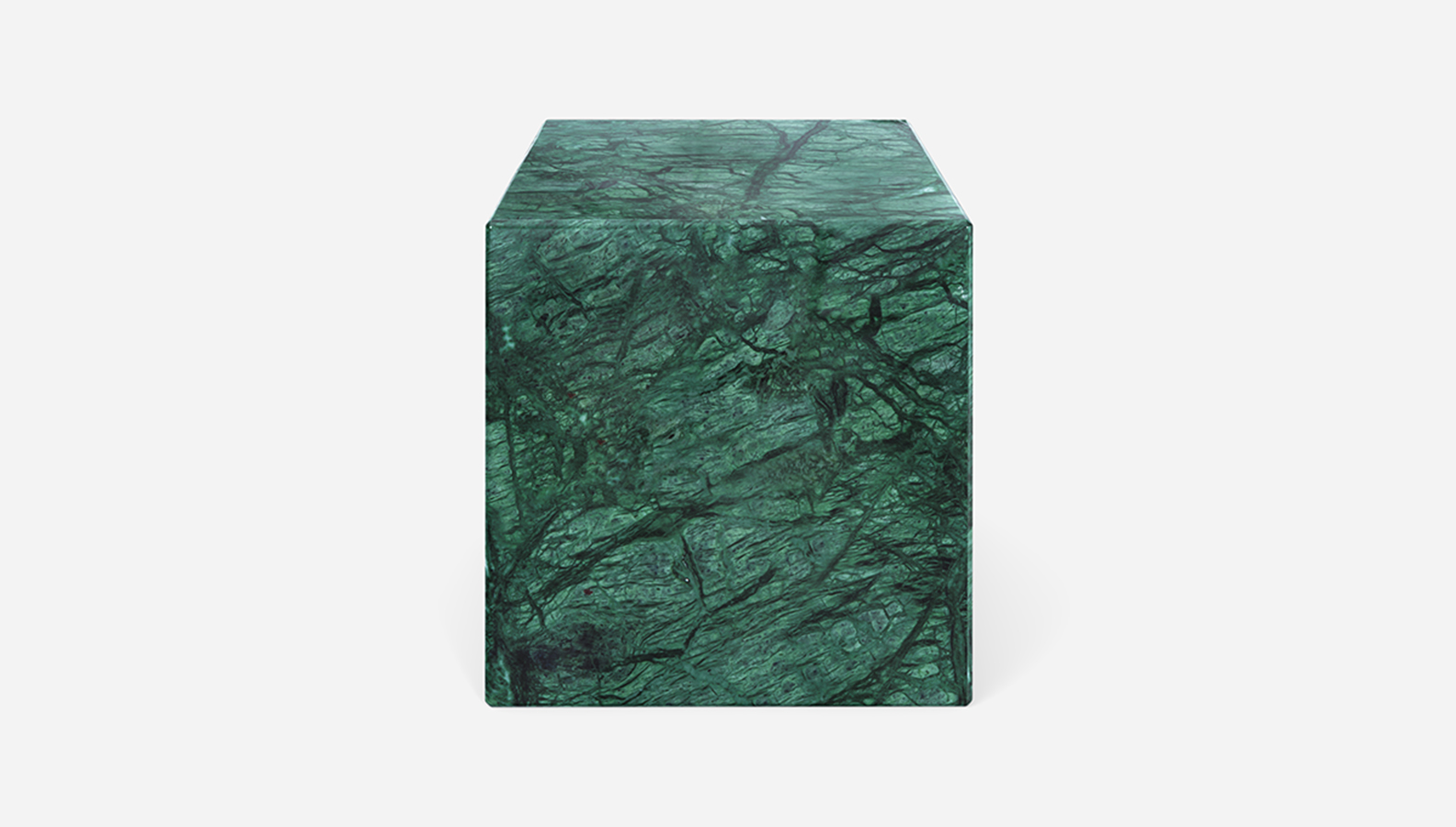 Aime Té Marmerblok Kubus - India Green - 40  x 40  x 40
