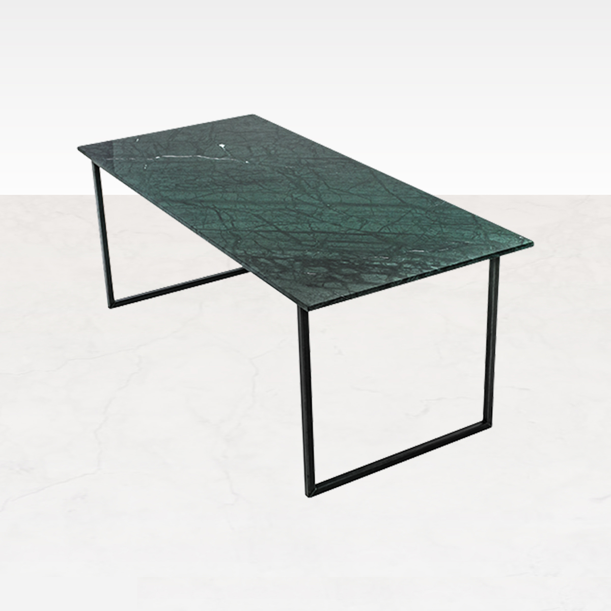 Marmeren Eettafel India Green 240 x 90 cm