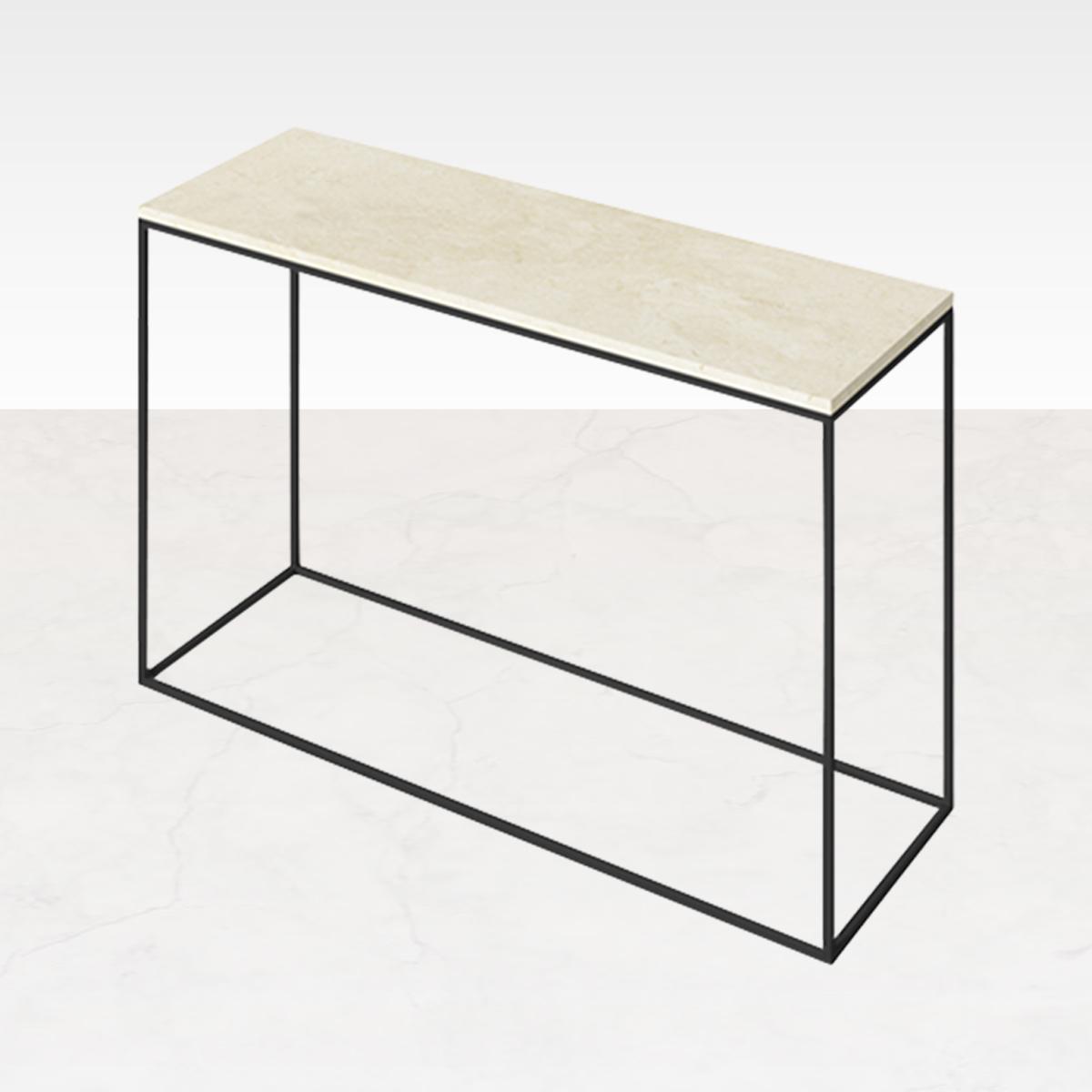Marmeren Sidetable Beige 120 x 40
