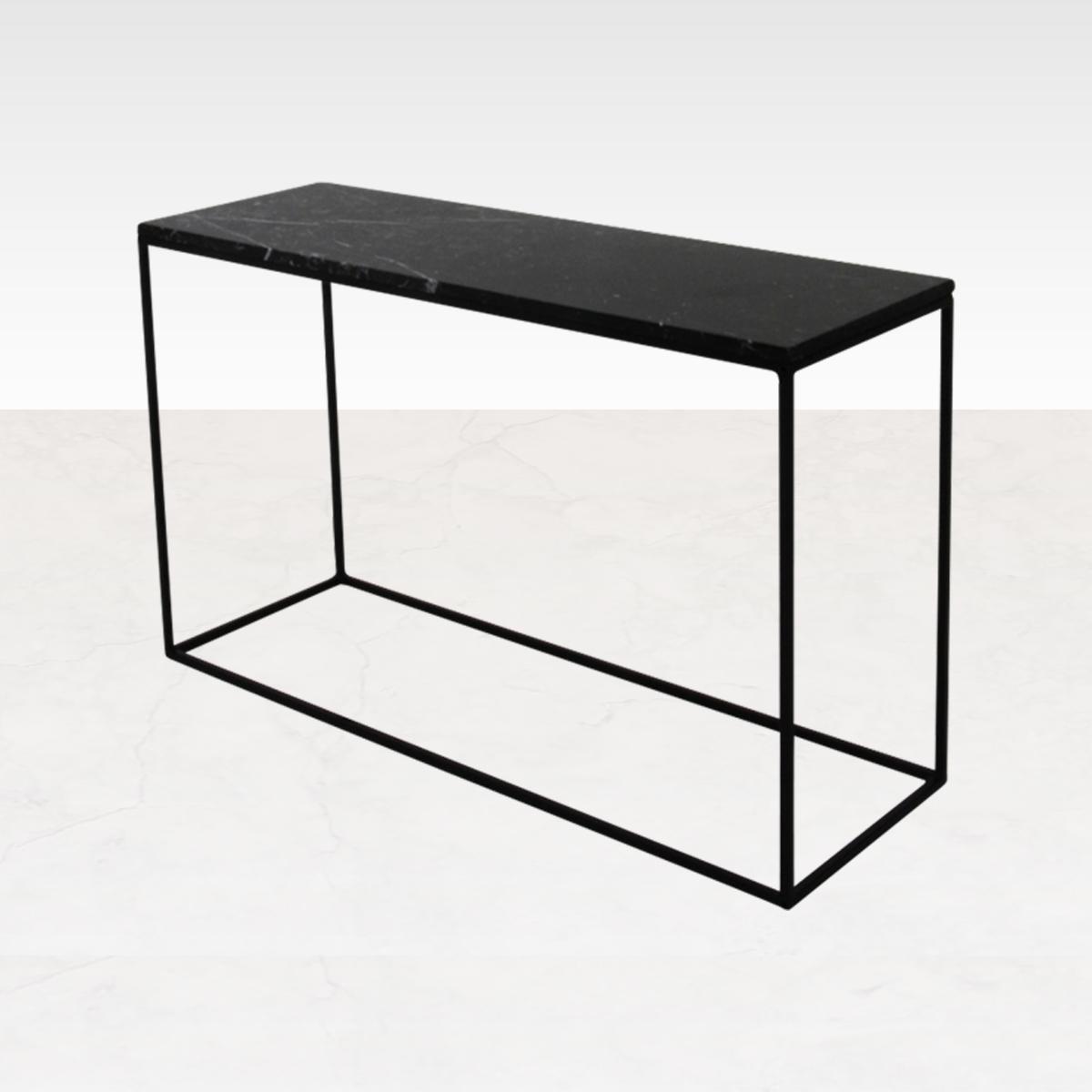 Marmeren Sidetable Zwart 140 x 40